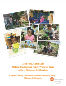 Good Food, Great Kids: Making Practice And Policy Work For Farm To Early Childcare & Education (2016)